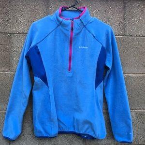 Columbia Sweaters - COLUMBIA Athletic Pullover Fleece Sweater Blue SZM